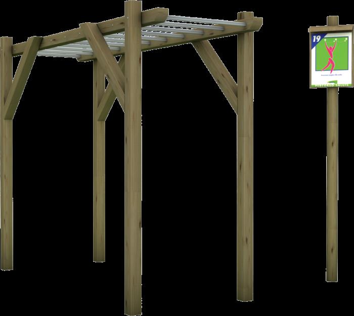 Percorso salute in legno di pino nordico impregnato in autoclave realizzato da Linea Montanalegno - ILT