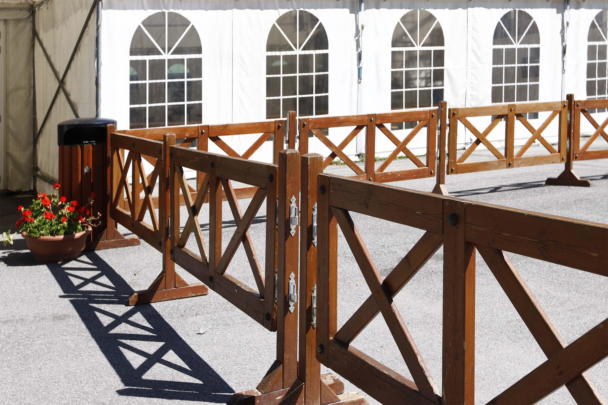 Transenna in legno di pino impregnato realizzato da Linea Montanalegno - ILT