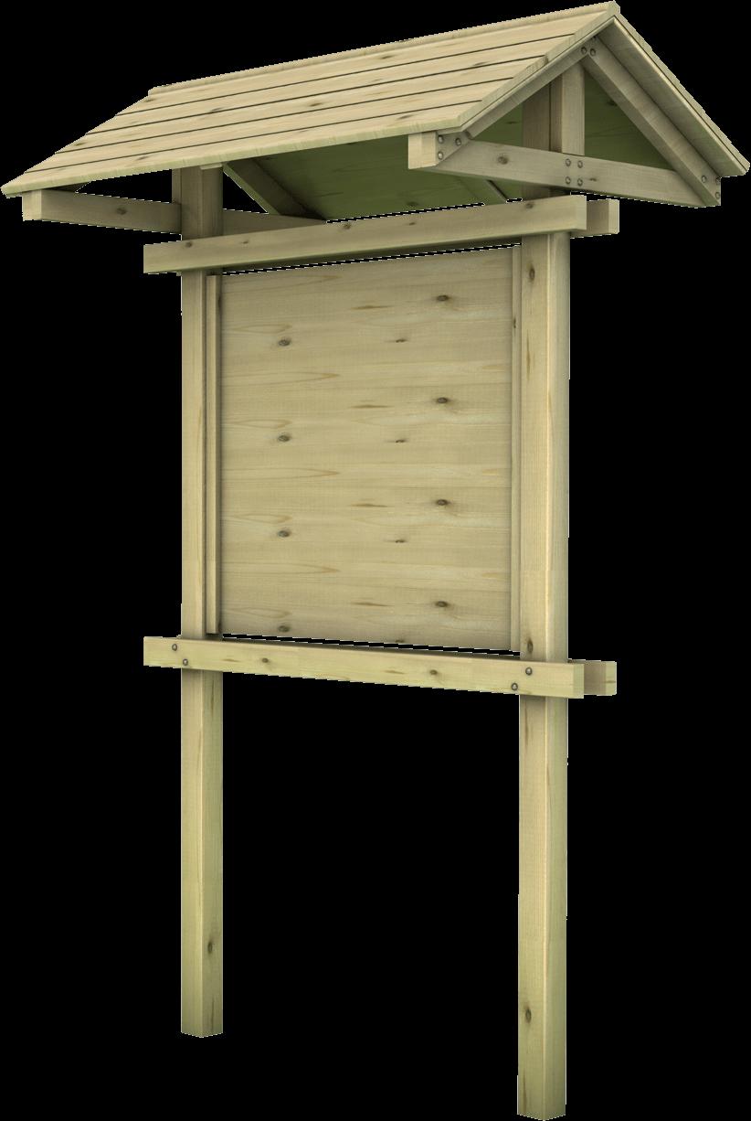 Bacheca in legno di pino nordico impregnato o larice realizzato da Linea Montanalegno - ILT