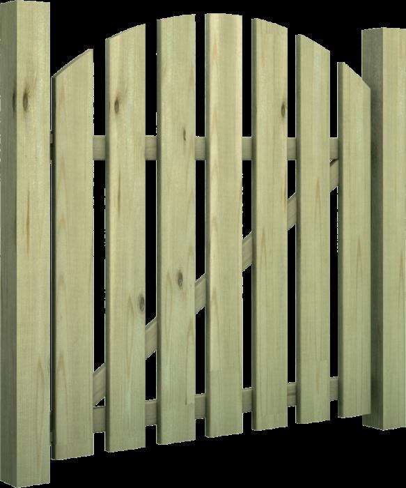 Cancello in legno di pino nordico impregnato o larice realizzato da Linea Montanalegno - ILT