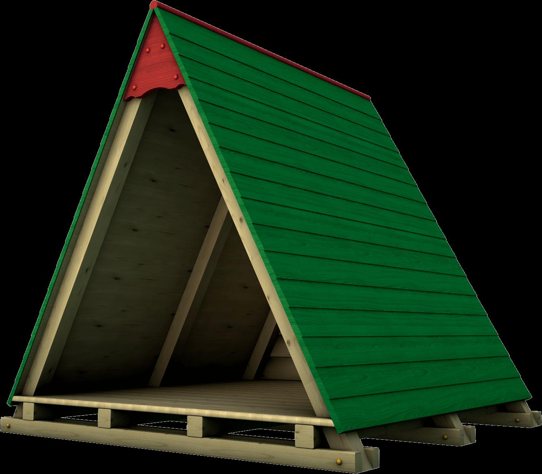 Capanna gioco per esterno in legno di pino nordico impregnato in autoclave realizzata da Linea Montanalegno - ILT