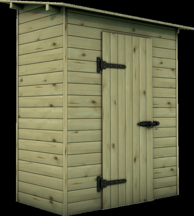 Casetta in legno di pino nordico impregnato o larice realizzato da Linea Montanalegno - ILT