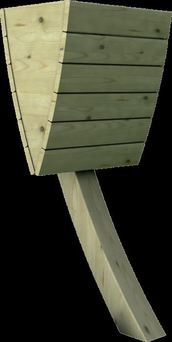 Cestino porta rifiuti in legno di pino nordico impregnato o larice realizzato da Linea Montanalegno - ILT