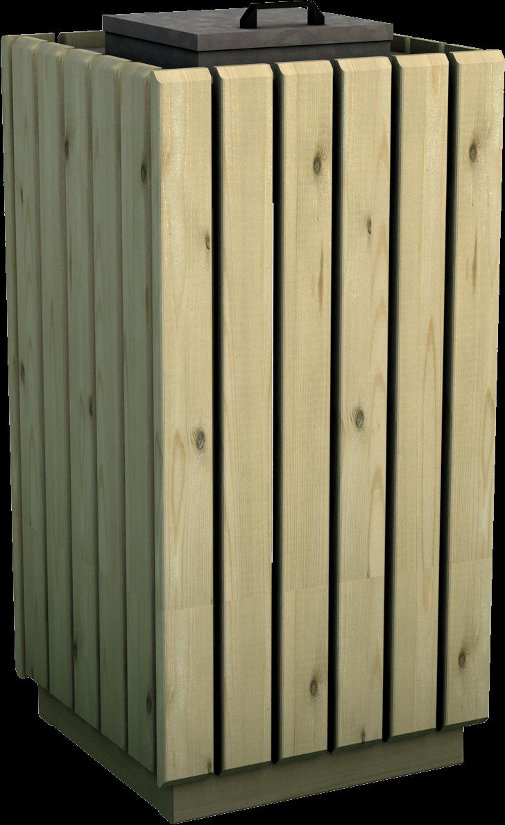 Cestino portasacco in legno di pino nordico impregnato o larice realizzato da Linea Montanalegno - ILT