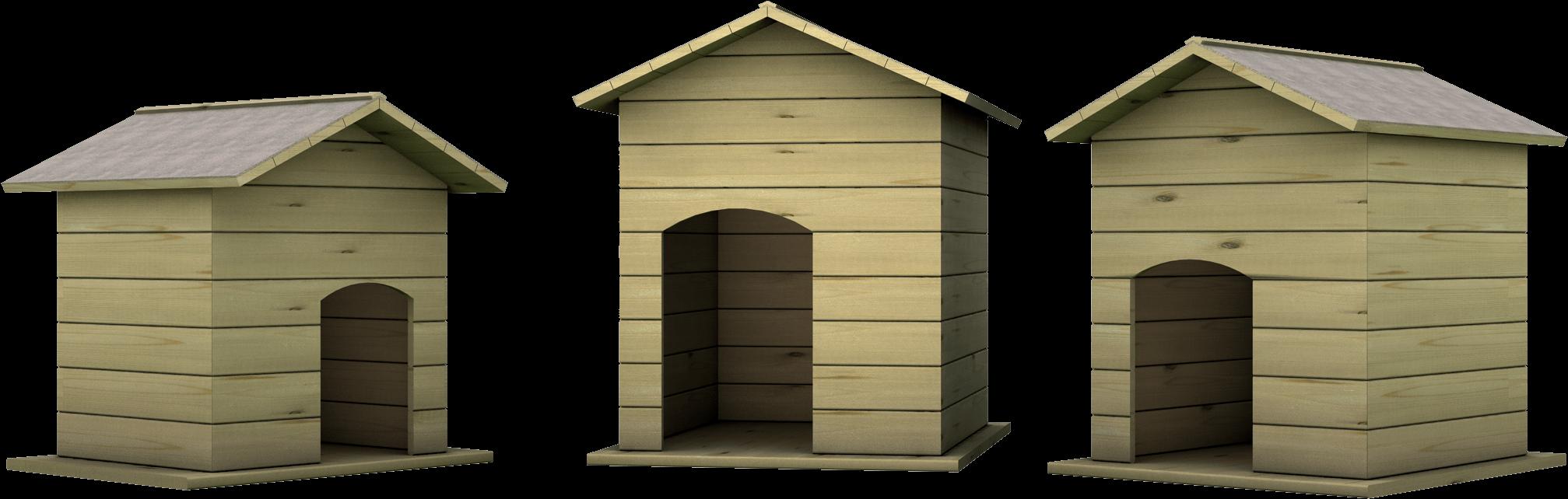 Cuccia per animali in legno di pino nordico impregnato o larice realizzato da Linea Montanalegno - ILT