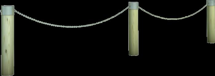 Dissuasore in legno di pino nordico impregnato o larice realizzato da Linea Montanalegno - ILT