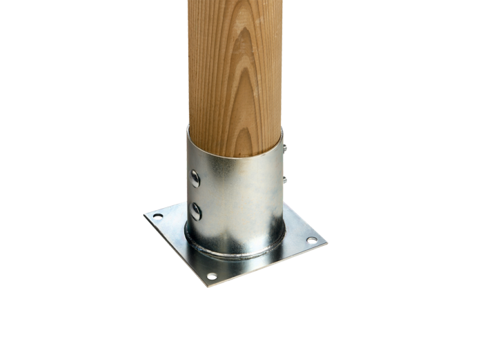 Ancoraggio piantoni in acciaio INOX utilizzato e venduto da Linea Montanalegno - ILT