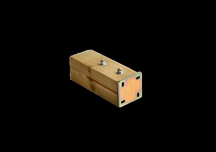 Supporto a scompara per pilastri in acciaio zincato utilizzato e venduto da Linea Montanalegno - ILT