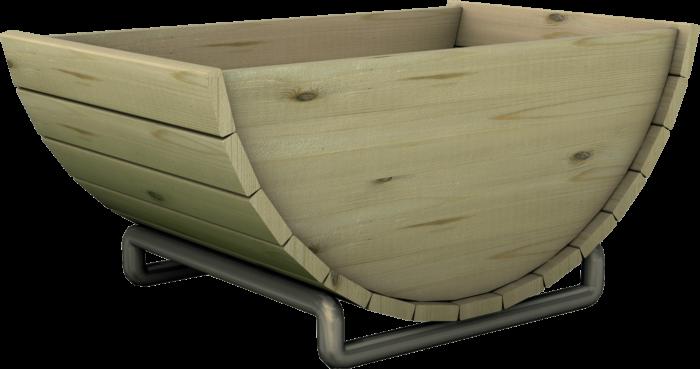 Fioriera in legno di pino nordico impregnato o larice realizzata da Linea Montanalegno - ILT