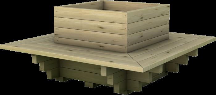 Fioriera in legno di pino nordico impregnato o larice realizzata da Linea Montanalegno - ILTFioriera in legno di pino nordico impregnato o larice realizzata da Linea Montanalegno - ILT