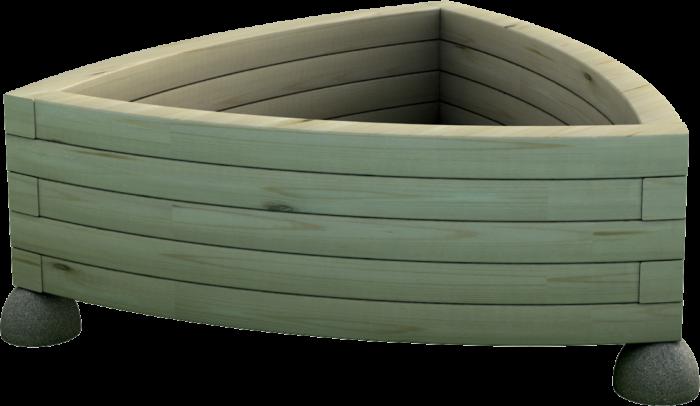 Fioriera in legno di pino nordico impregnato e granulato di pietra realizzata da Linea Montanalegno - ILTFioriera in legno di pino nordico impregnato o larice realizzata da Linea Montanalegno - ILT