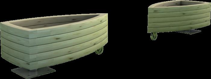 Fioriera in legno di pino nordico impregnato e snodi metallici realizzata da Linea Montanalegno - ILTFioriera in legno di pino nordico impregnato o larice realizzata da Linea Montanalegno - ILT