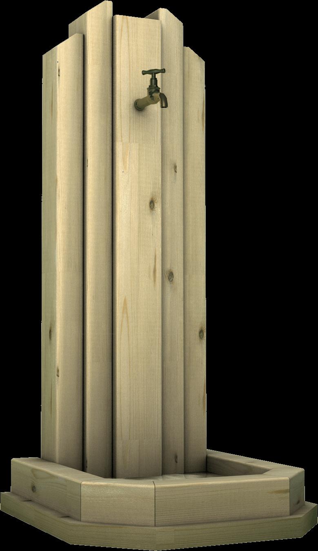 Fontana in legno di pino nordico impregnato o larice realizzato da Linea Montanalegno - ILT