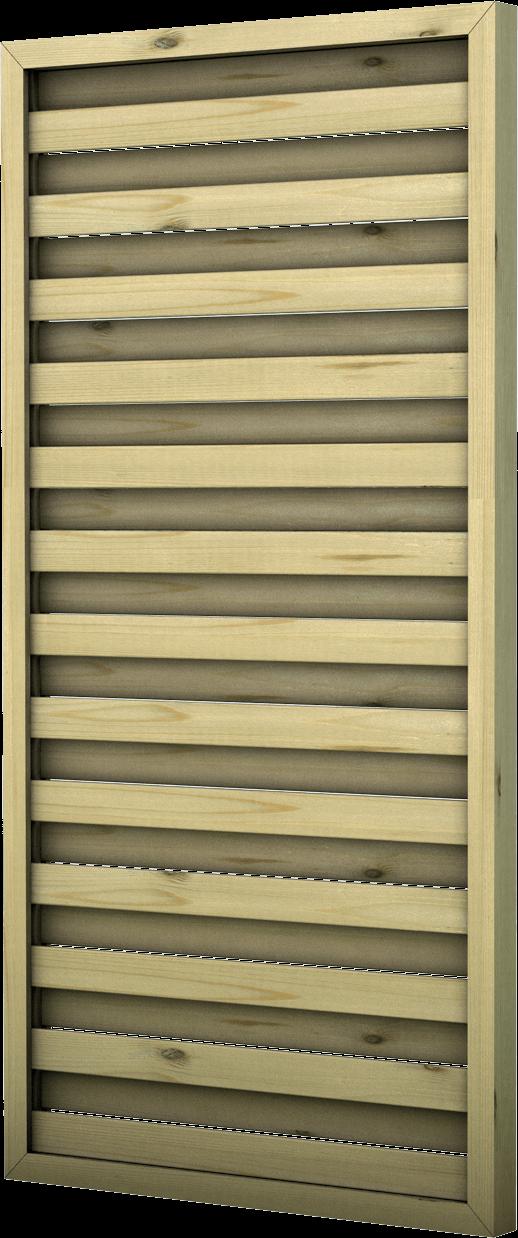 Frangivento in legno di pino nordico impregnato o larice realizzato da Linea Montanalegno - ILT