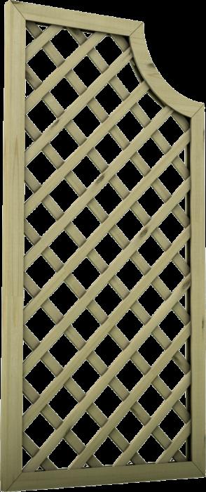 Grigliato in legno di pino nordico impregnato o larice realizzato da Linea Montanalegno - ILT