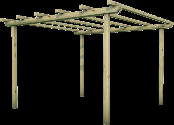 Pergola in legno di pino nordico impregnato o larice realizzata da Linea Montanalegno - ILT
