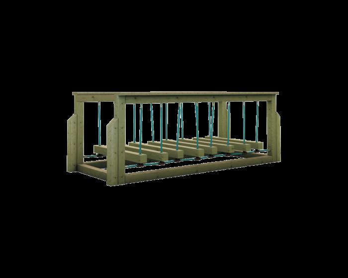 Ponte mobile gioco per esterno in legno di pino nordico impregnato in autoclave realizzata da Linea Montanalegno - ILT