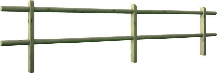 Recinzione steccato in legno di pino nordico impregnato o larice realizzato da Linea Montanalegno - ILT