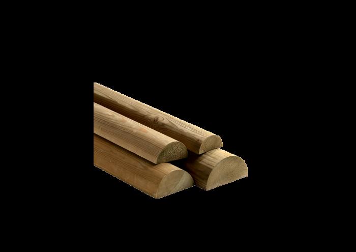 Mezzo Tondello in legno di pino nordico impregnato in autoclave realizzato da Linea Montanalegno - ILT