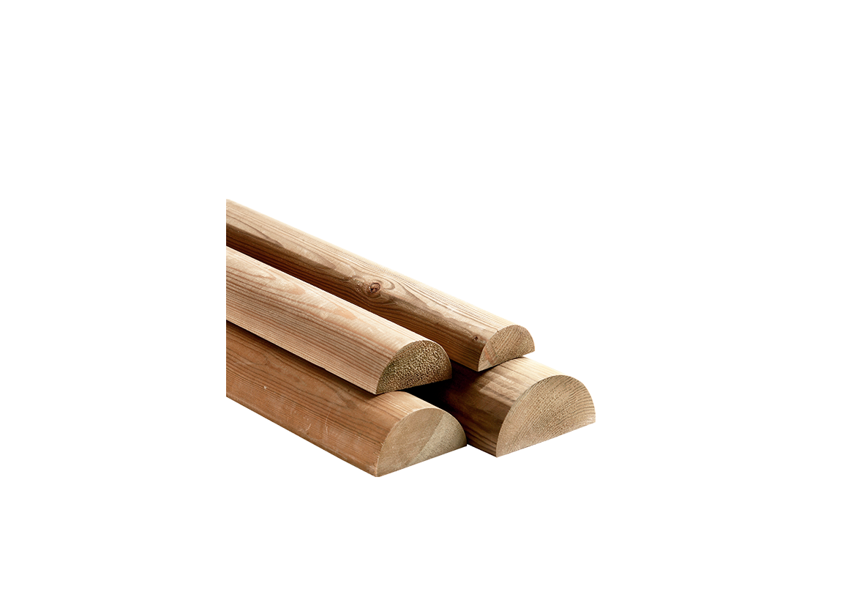 Mezzo Tondello in legno di pino nordico realizzato da Linea Montanalegno - ILT