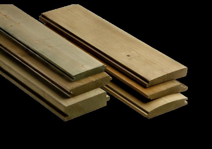 Perlina in legno di pino nordico impregnato in autoclave realizzato da Linea Montanalegno - ILT