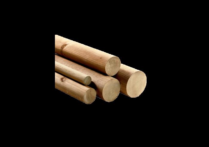 Tondello in legno di pino nordico realizzato da Linea Montanalegno - ILT