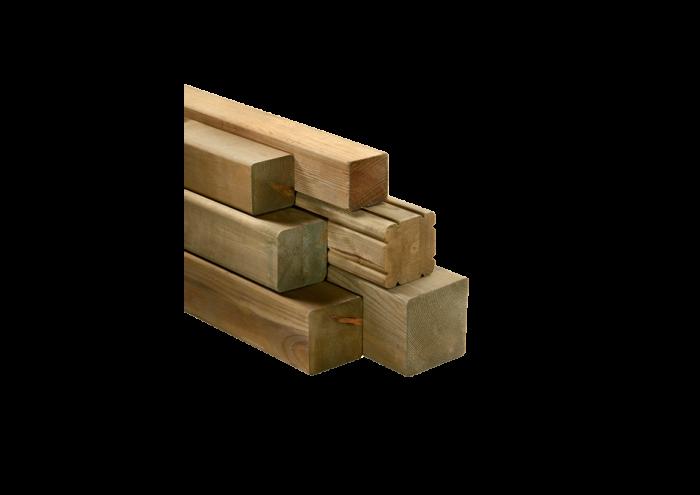 Travetto in legno di pino nordico impregnato in autoclave realizzato da Linea Montanalegno - ILT