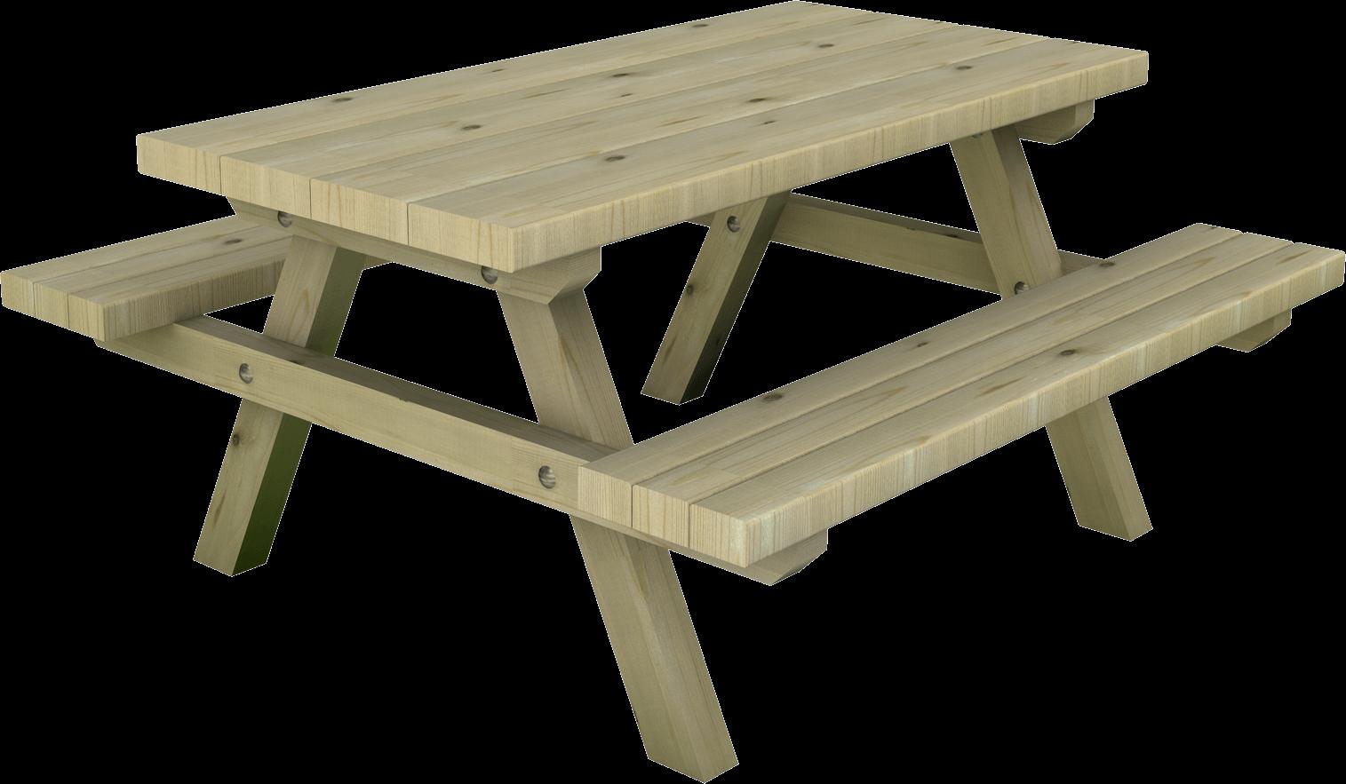 Tavolo per bambini in legno di pino nordico impregnato in autoclave realizzato da Linea Montanalegno - ILT