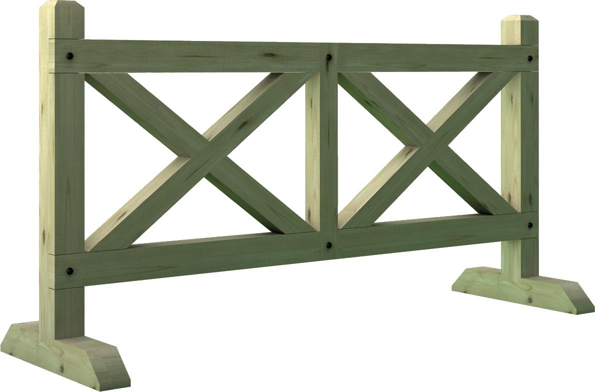 Transenna in legno di pino nordico impregnato o larice realizzato da Linea Montanalegno - ILT