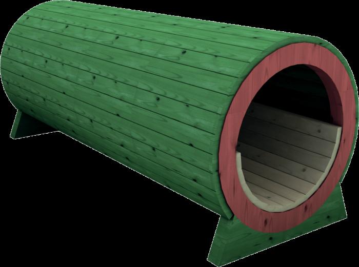 Tunnel gioco per esterno in legno di pino nordico impregnato in autoclave realizzata da Linea Montanalegno - ILT