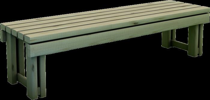 Panchina in legno di pino nordico realizzata da Linea Montanalegno - ILT