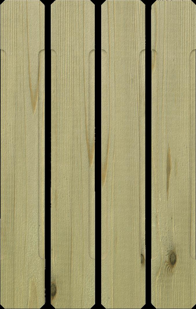 Stecca per balcone in legno di pino nordico impregnato o larice realizzato da Linea Montanalegno - ILT