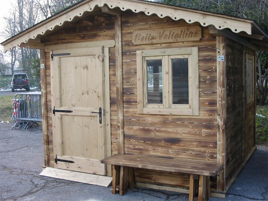 Casetta in legno realizzata da Linea Montanalegno - ILT