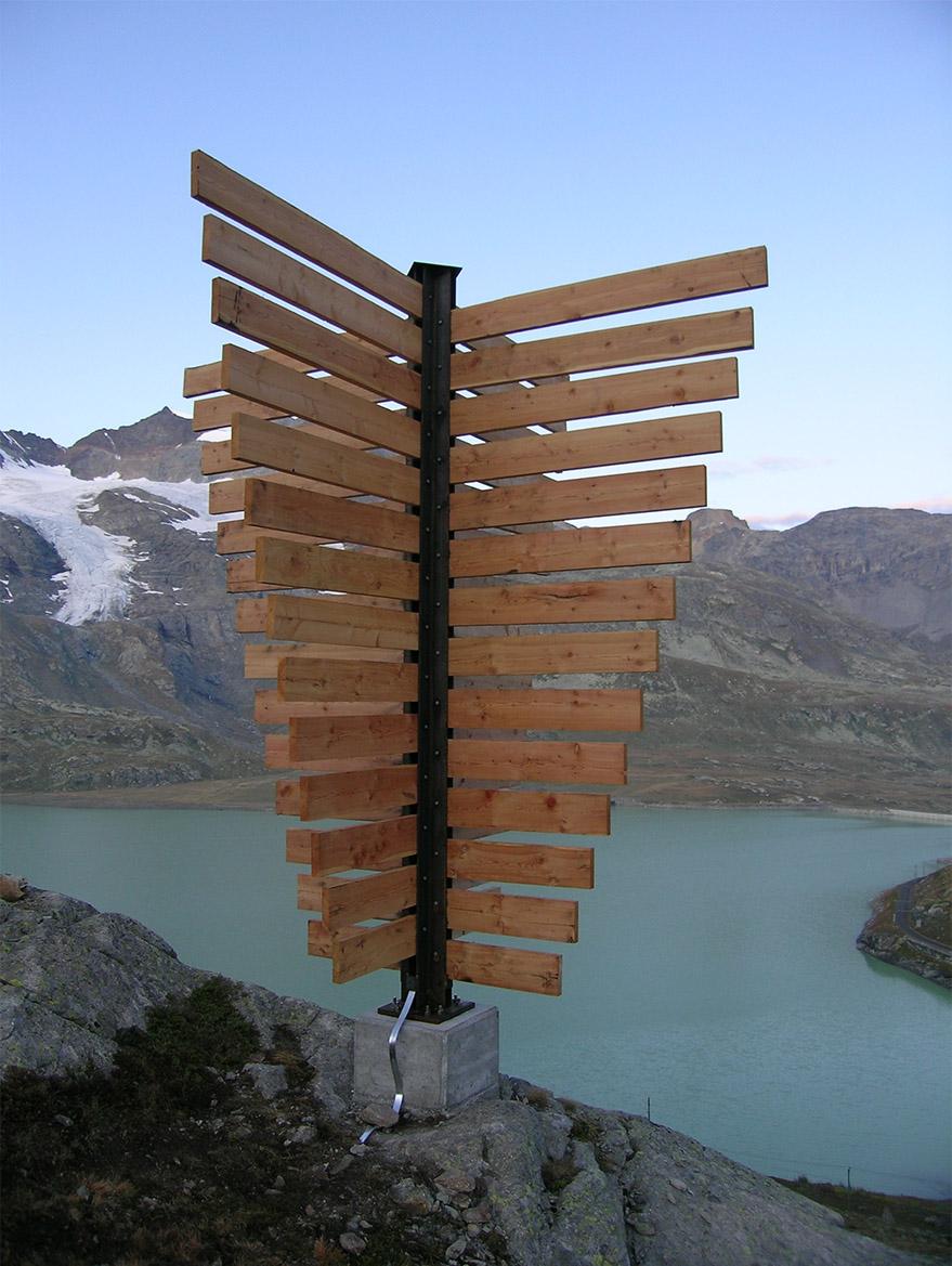 Fermavalanga in legno di pino nordico impregnato in autoclave realizzato da Linea Montanalegno - ILT